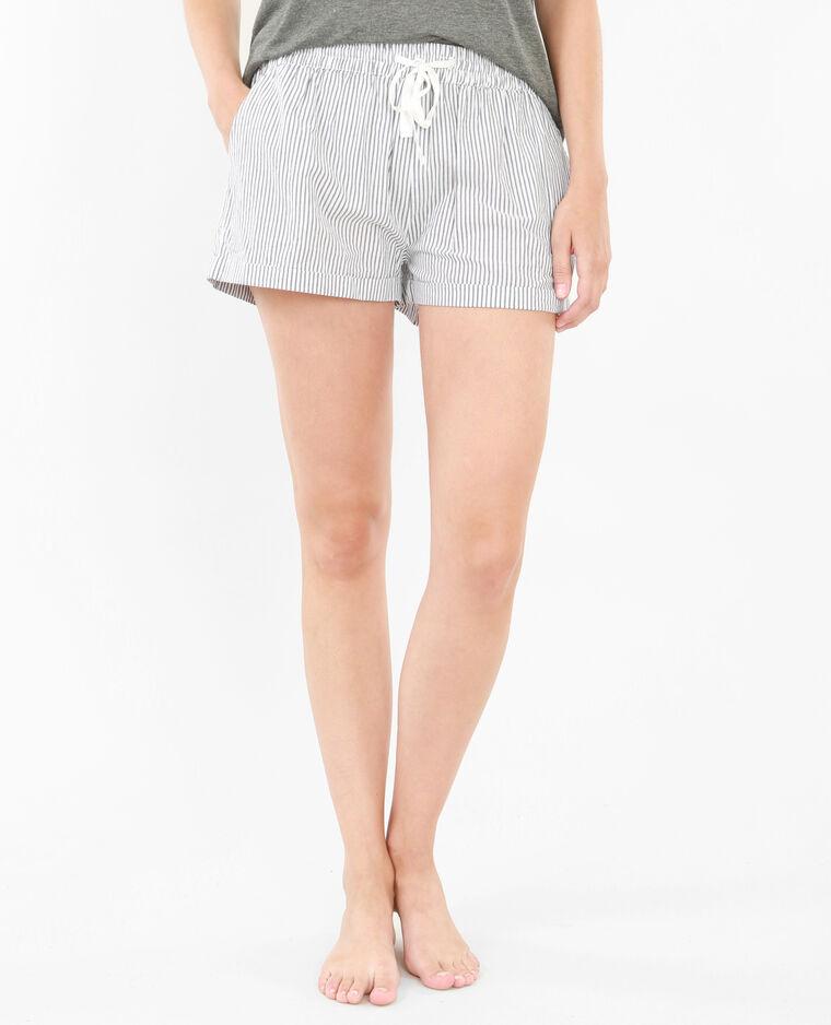 Short homewear a righe bianco