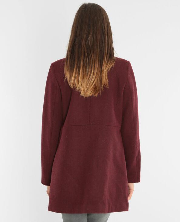 Cappotto in panno di lana Granata