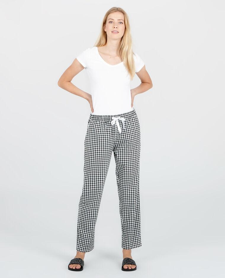 Pantalon homewear vichy noir