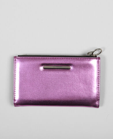 Brieftasche Metallic Pink