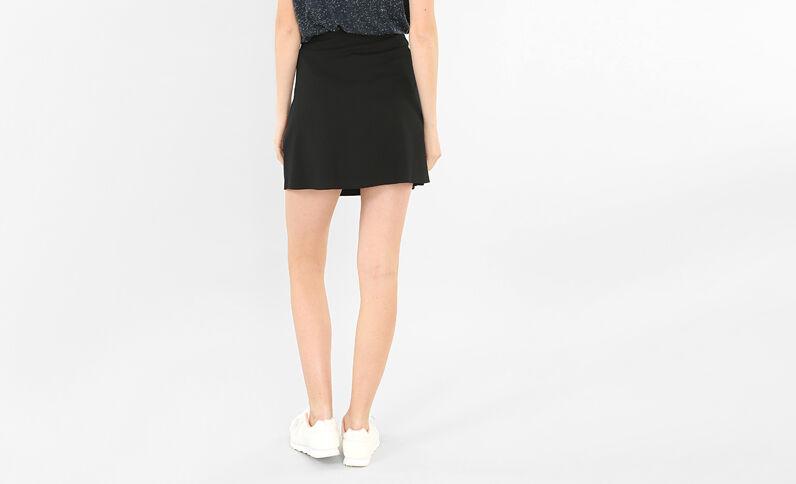 Minifalda con volantes negro