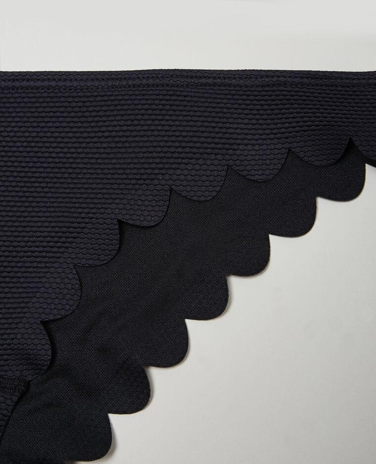 Bas de maillot de bain pétales noir
