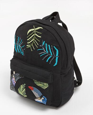 Rucksack mit Perlen Schwarz