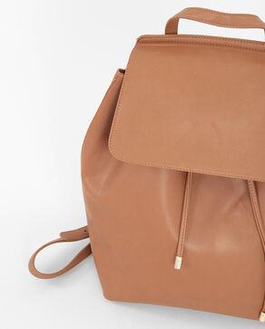 Rucksack im Minimal-Format Orangebraun