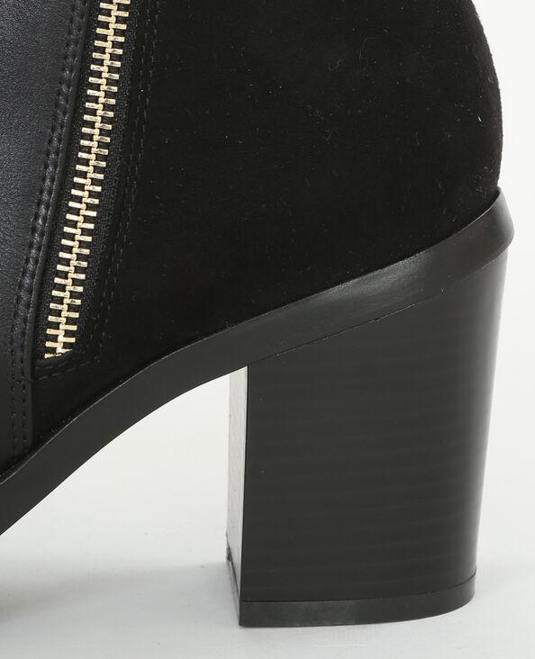 Botas de dos tejidos negro