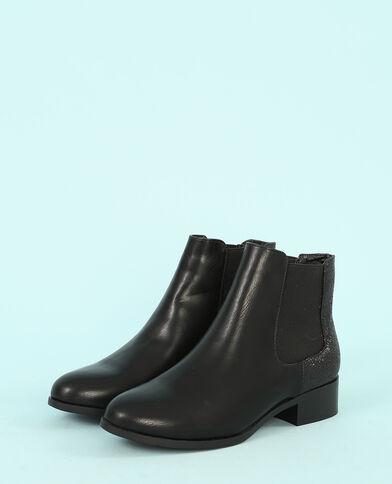 Glitzernde Chelsea-Boots Schwarz