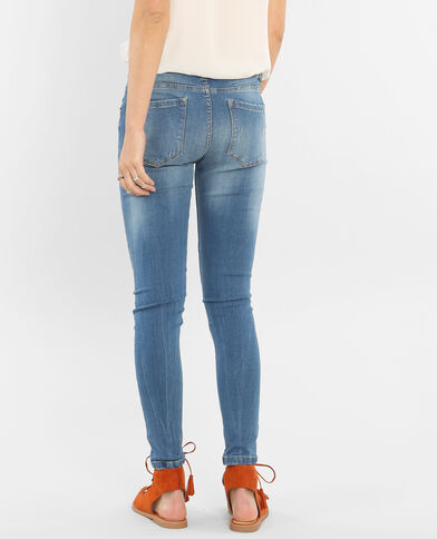 Jeggings a vita alta blu