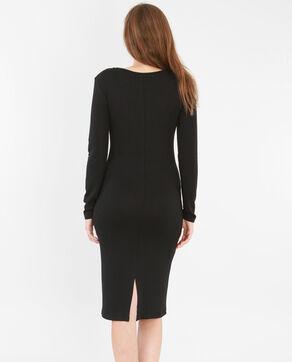 Lange trui-jurk zwart