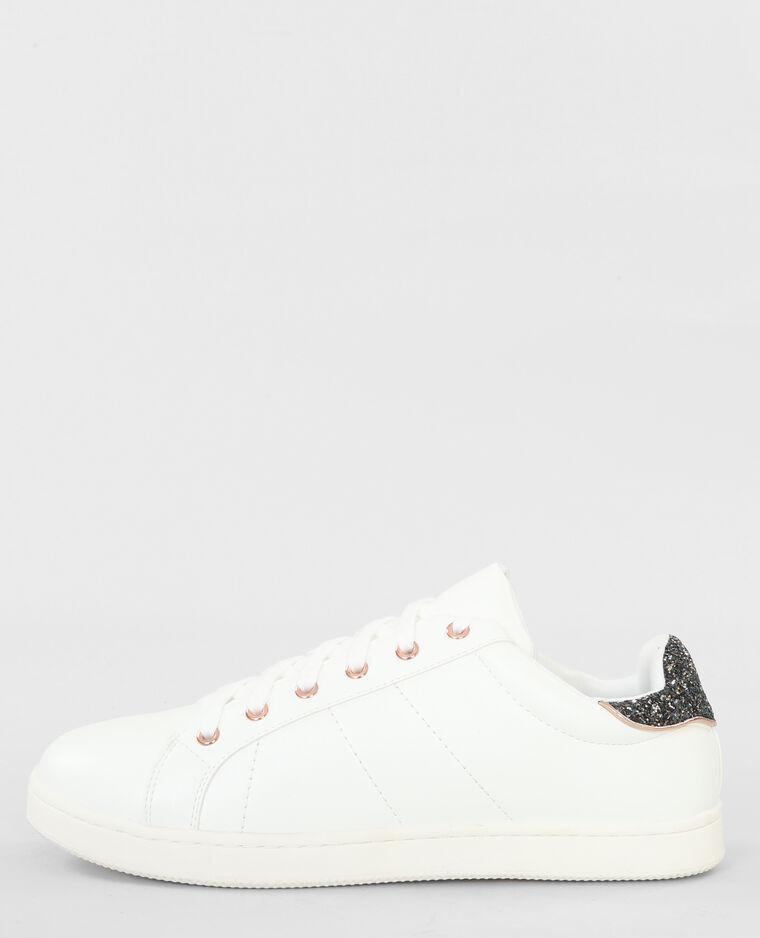 Scarpe da basket glitter dietro bianco