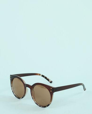 Lunettes de soleil yeux de chat marron