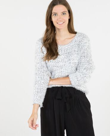 Pullover mit Popcorn-Muster Grau