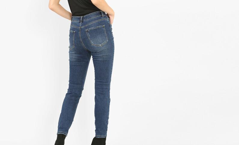 Jeans skinny destroy azul