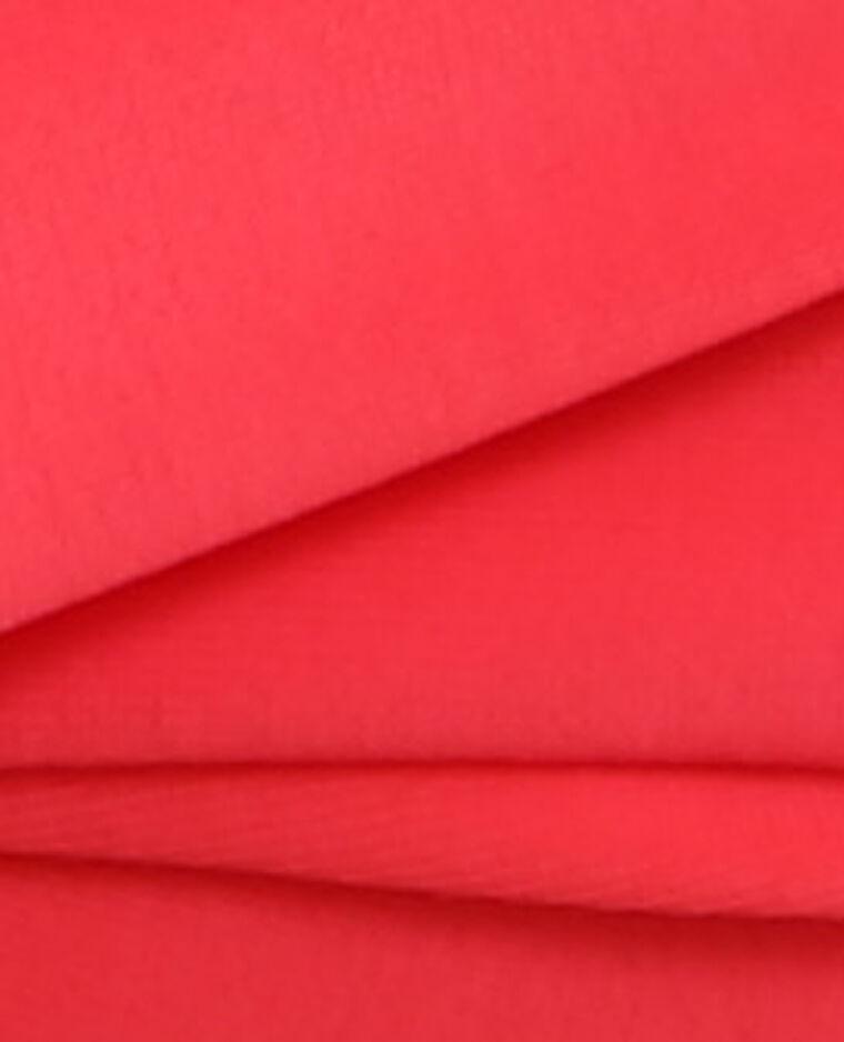 Parte superior de biquini rosa flúor rojo