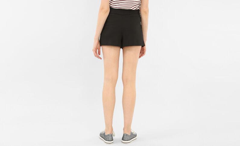 Shorts mit hoher Taille Schwarz