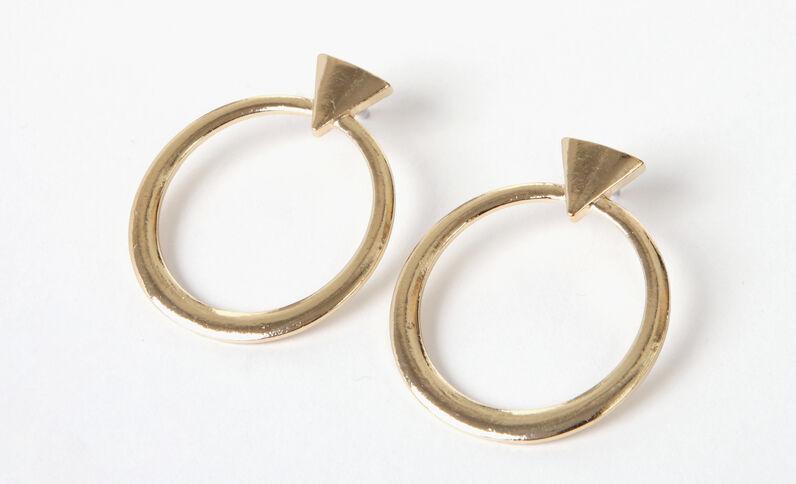 Pendientes geométricos dorado