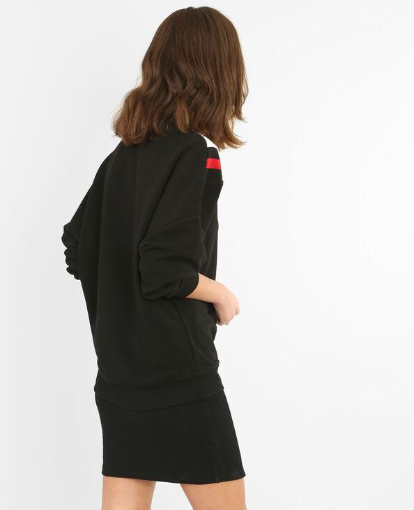 Dreifarbiges Sweatshirt Schwarz