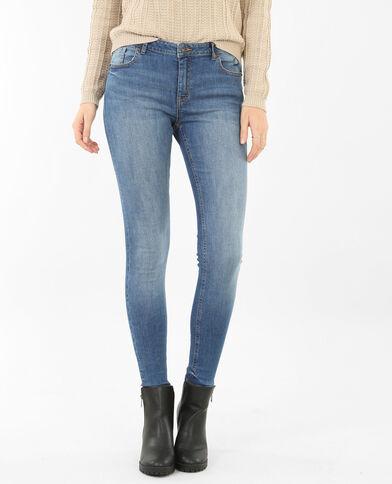 Skinny-Jeans mit mittlerer Taille Blau