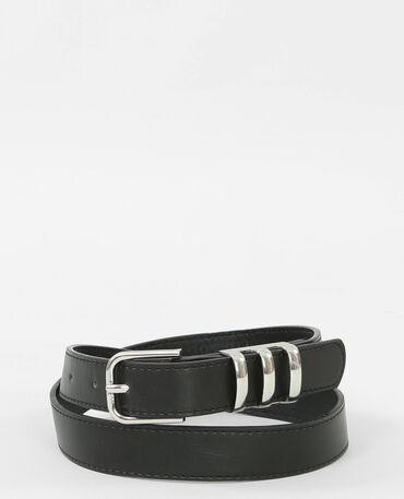 Cintura nera e metallo nero