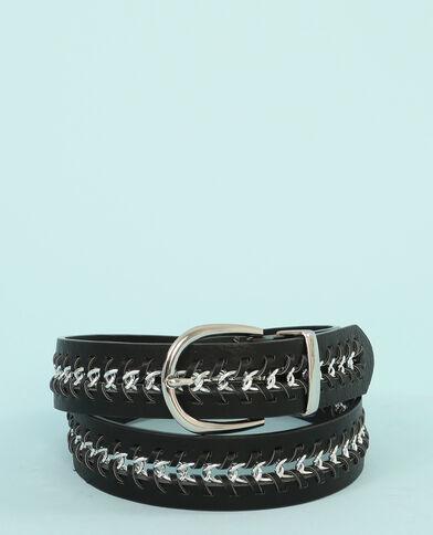 Cinturón con cadena negro