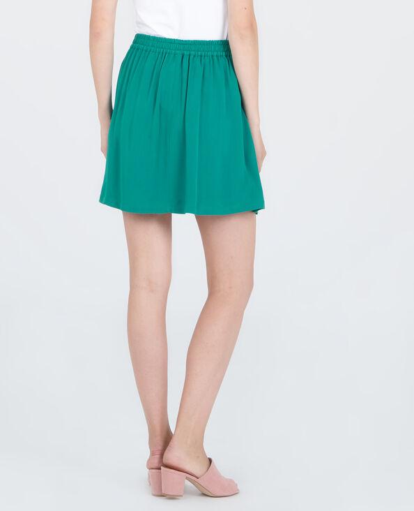 Minigonna morbida verde abete