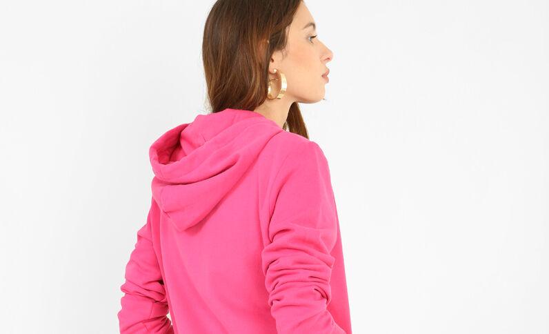 Sweat zippé rose