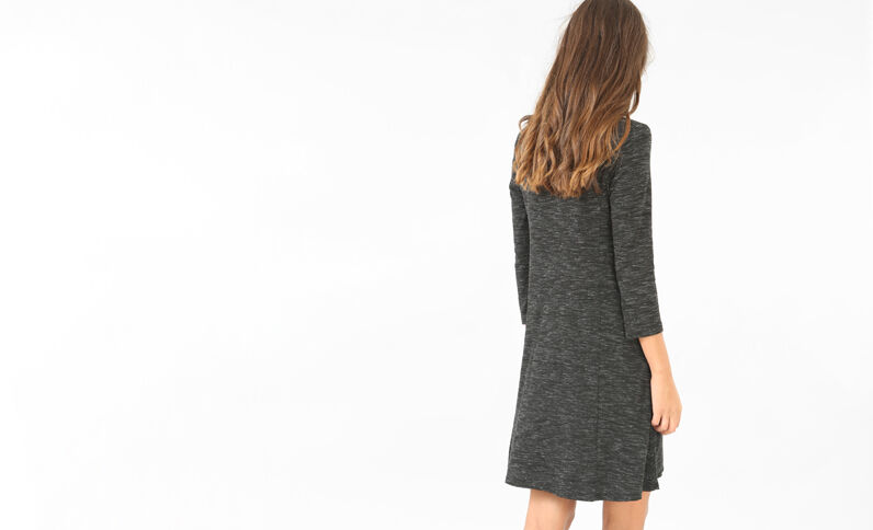 Trapez-Kleid Grau