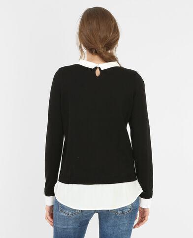 Pullover im Schichten-Look Schwarz