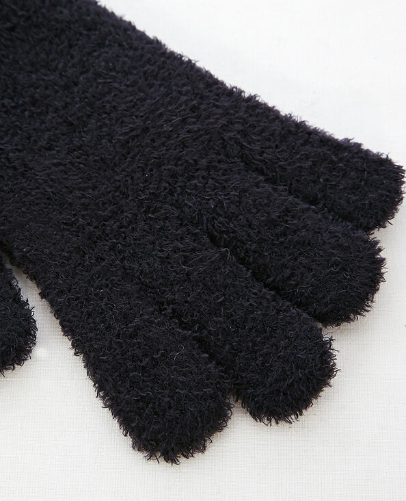 Gants duveteux noir