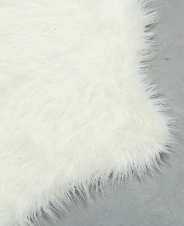 Teppich aus Kunstfell Naturweiß