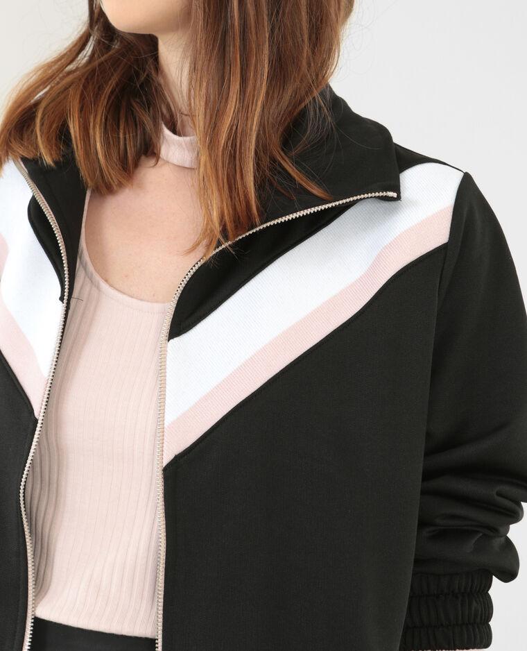 Sportliches Sweatshirt mit Reißverschluss Weiß