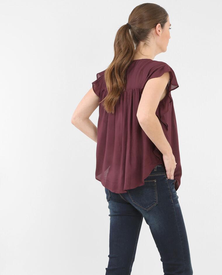 bluse mit r schen bordeauxrot 566056326g03 pimkie. Black Bedroom Furniture Sets. Home Design Ideas