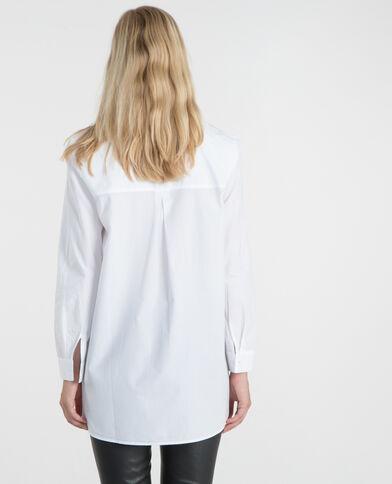 Popeline-Hemd Weiß