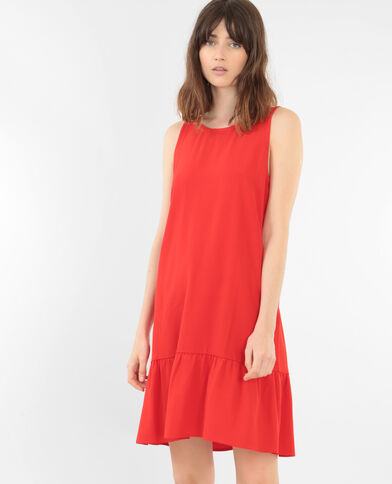 Robe à volants rouge