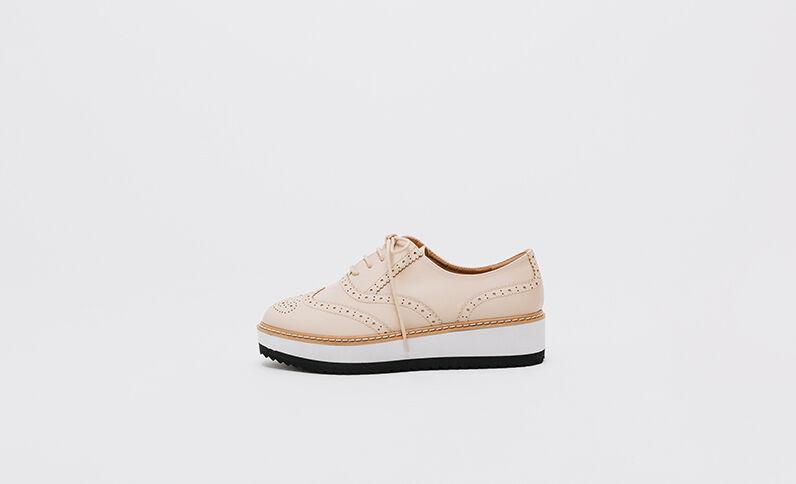 Zapatos Derby con plataforma beige grisáceo
