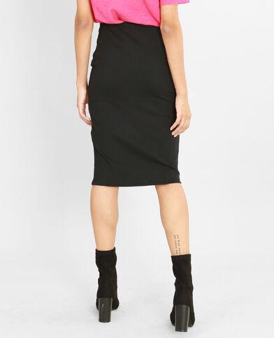 Falda midi bodycon con cremallera negro
