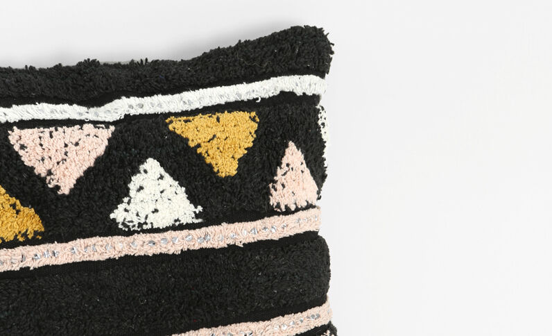 Kissenbezug mit Mustern Schwarz