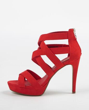 Sandales à talons hauts rouge