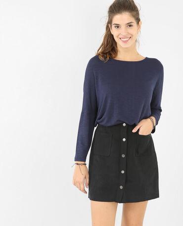 Camiseta mangas murciélago azul marino
