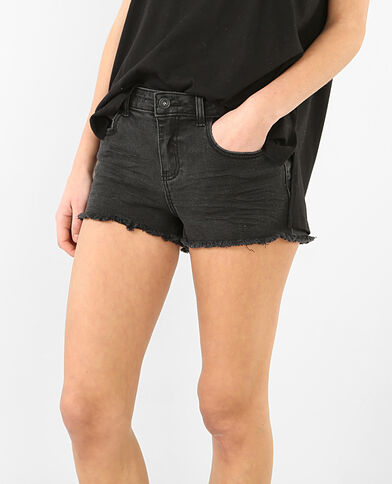 Mini short denim nero