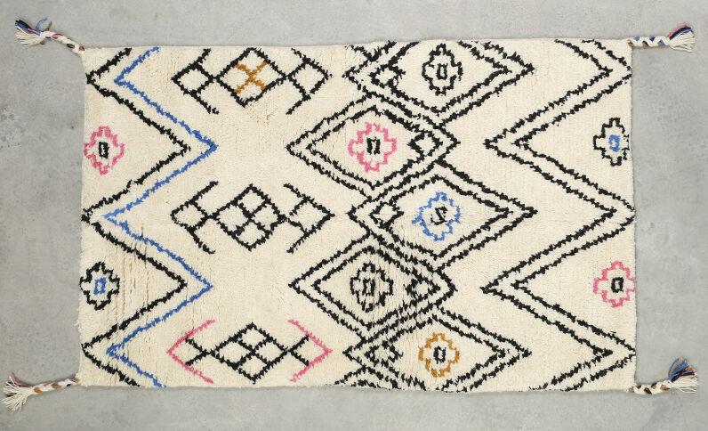 Berberteppich, mehrfarbig Naturweiß