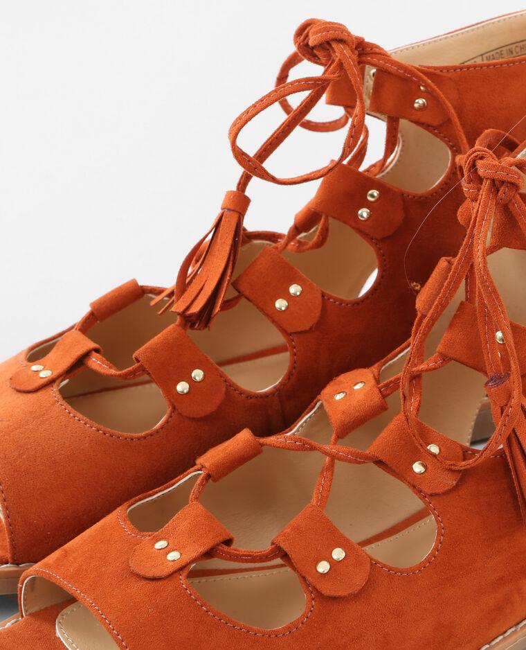 flache sandaletten zum schn ren rot 988079363a03 pimkie. Black Bedroom Furniture Sets. Home Design Ideas