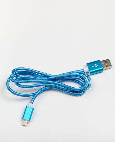 Cavo per iPhone blu elettrico