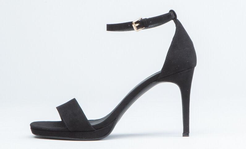 Sandaletten mit Bleistiftabsatz Schwarz