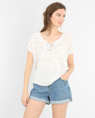 Camiseta con cordón gris