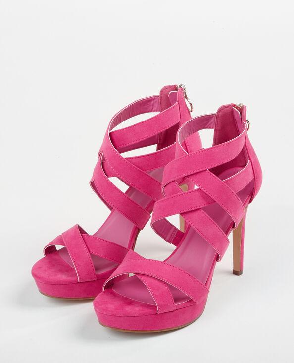 Sandalen met hoge hakken roze