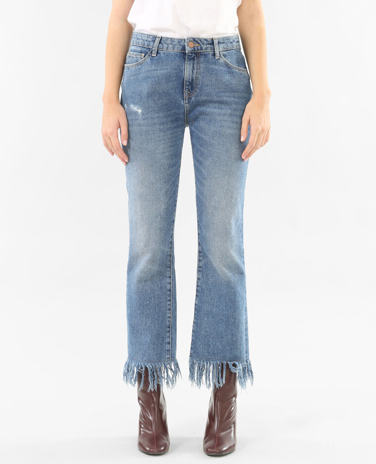 Jeans Con Frange Blu Denim 177056683a06 Pimkie