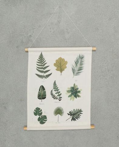 Bedrucktes Wandbild Naturweiß