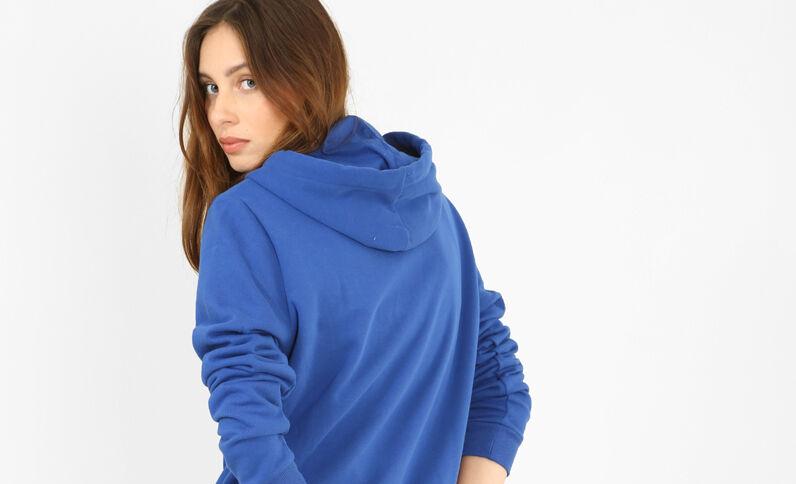 Felpa con zip blu elettrico