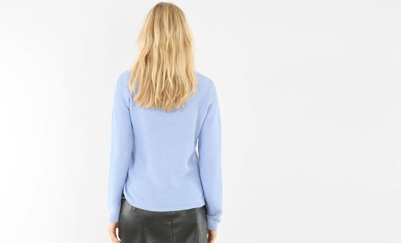 Jersey de punto variado azul celeste