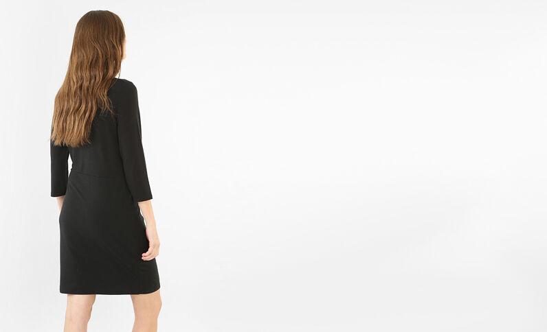Kleid mit Schleife Schwarz